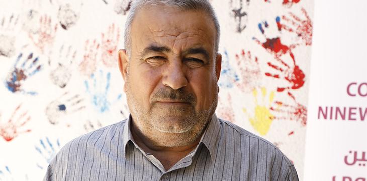 Il Preside della scuola di Manarat Shabak, Mr. Elias.